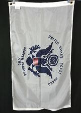 New United States Coast Guard White Nylon Flag Semper Paratus 1790 - 2 ft x 3 ft