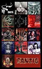 "DANZIG album cover discography magnet (3.5"" X 4.5"") misfits black laden crown"
