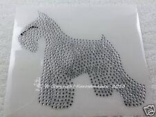 Hotfix Strass Bügelbild Dog Schnauzer Crystal 130826 Zuchtverband  Karostonebox