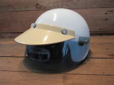 Vtg Nesco Comet Deluxe Scooter Motorcycle Vespa Moped Helmet Large Visor Cafe