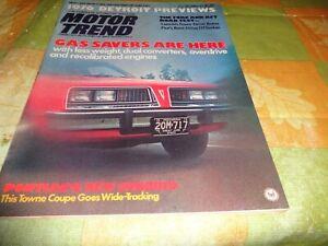 MOTOR TREND MAGAZINE SEPTEMBER 1975 PONTIAC SUNBIRD