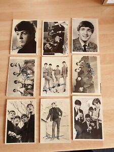 BEATLES TRADE CARDS X 30 BLACK AND WHITE 1st SERIES