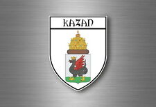 Sticker decal souvenir car coat of arms shield city flag kazan russia