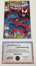 Marvel Spider-man Unlimited #1 Maximum Carnage Signed by Stan Lee w/COA