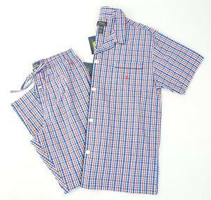 New Polo Ralph Lauren Men's Perry Plaid Woven Cotton Pajama Top Lounge Pants