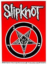 Sticker Slipknot Band Name Logo & Church of Satan Symbol Heavy Metal Music Decal