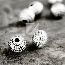 100pcs Charm Metal Beads Tibetan Silver Loose Spacer DIY Jewellery 5.5x5.5x5mm
