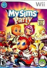 MySims Party (Nintendo Wii, 2009) Video Game The Sims