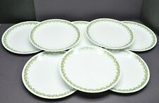 "Vtg Corelle Corning Crazy Daisy Spring Blossom Lunch Plates 10 1/4"" Lot of 8"
