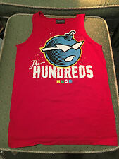 """Men's THE HUNDREDS, """"HUGE """" Size Small  T-Shirt Tank Top Red Tee"""