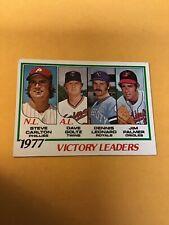 1978 Topps Steve Carlton Victory Leaders #205 MLB Phillies