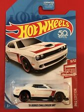 2018 Hot Wheels Target Exclusive Red Edition '15 WHITE CHALLENGER SRT - ERROR!!!