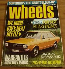 1972.WHEELS.Alfa Berlina.CELICA Twin Cam.ALFASUD.Mercedes Benz 230SL.Marina