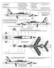 Warbird T-38A Talon, USAF Thunderbird Decals 1/48 009 Fitted for Fujimi, Testors