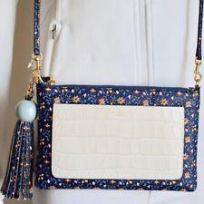 Tory Burch Colorblock Tassel Cross Body Bag Shoulder Clutch Handbag