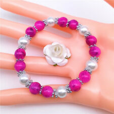 Wholesale Fashion Jewelry 8mm Pearl Beads Stretch Bracelet Pick M16