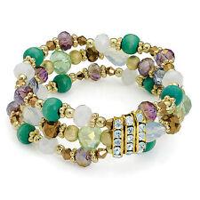 Verde tono elástico Cuentas De Cristal, Pulsera De Señoras La Joyería De Moda