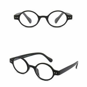 Retro Vintage Reading Glasses Spring Hinges Round Readers Men Women +1.0 ~ 4.0