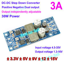 3A DC-DC Buck Step down Dual Power Supply Module 4.5-35v to ±5V ±12V ±15V Adjust