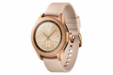 Samsung Galaxy Watch 42mm Rose Gold Stainless Steel Case Pink Classic Buckle...