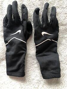 Nike Womena Black Running Gloves Size S