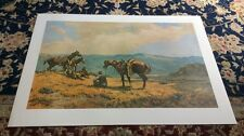 Walt Larue Limited Edition Lithograph Western Art Print Artist Signed & Numbered