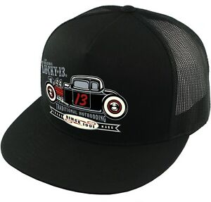 Lucky 13 The Coupe 13 Hot Rod Cars Rockabilly Trucker Snapback Cap Hat LCSB5CT