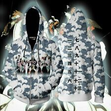 Japanese Anime Bleach Cosplay Hoodies Sweatshirts Coat Jacket Christmas Gift