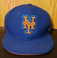 MLB NEW YORK METS NIKE BLUE & ORANGE Snap Back Hat