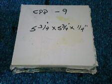 Polycarbonate Plexiglas 5 Clear 5 3/4 x 5 3/4 x1/4 Squares Cpp- 9