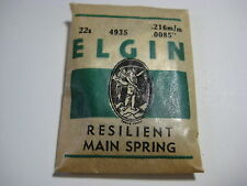 ELGIN P/W MAIN SPRING    #4935   22s     FREE SHIPPING