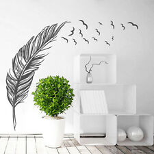 Flying Feather Living Room Wall Sticker Home Decor DIY House Decor