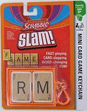 Scrabble Slam Game Mini Card Clip-On Basic Fun Miniature NEW Hasbro Travel Words