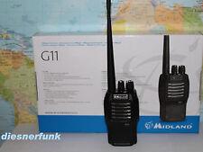 MIDLAND G11 V mit langer Reichweiten Antenne PMR446 Standlader 1600 Li-ION Akku