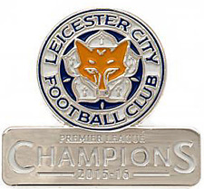 Leicester City Champions metal/enamel pin badge official licensed product (bst)