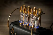 Baroque design In-14 Nixie Clock Handmade Leather (Z568M, In-18 style) #1