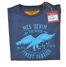 T-shirt MARLBORO CLASSICS MCS uomo girocollo estiva blu con stampa manica corta