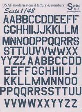 Stampare Scala 1/48 USAF Moderno Lettere & Numeri GUNSHIP Grigio Standard o Stencil