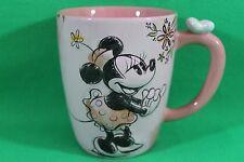 Walt Disney Store Minnie Mouse Flower Floral Coffee Cup Mug