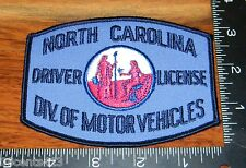 North Carolina Driver License Division of Motor Vehicles Cloth Patch Only