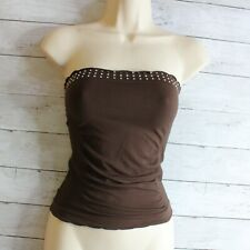 Vintage Women's Tube Top Bandeau Strapless Cami One Size Seamless Stretch