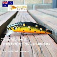 Trout & Bream Fishing Lures Bass Yellow Tackle Minnow Lure Freshwater