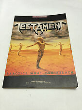 TESTAMENT -Practice What You Preach- JAPAN Band Score Guitar Bass Drum Metal TAB