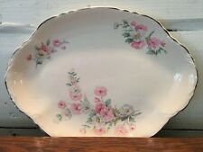 Vintage Homer Laughlin Floral Design Serving Plate Platter