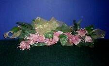 Pink Floral and Greenery Wall Decoration