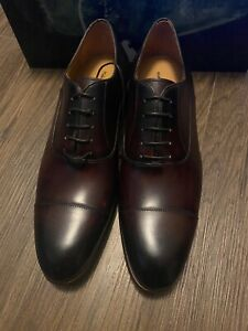 Men's Saks Fifth Ave By Magnanni Leather Cap Toe Sz 10 $500