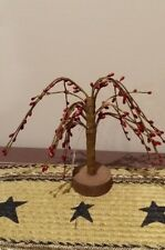 """Red 6"""" Pip Berry Willow Tree, Country, Primitive, Berries, New"""