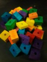 30 Wood Piece Flats Drilled Med to Large Parrot Bird Toy Parts