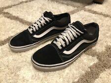 Black VANS Old Skool Used. Mens Size 9 U.S. Worn Used Suede Shoes Trashed Skater