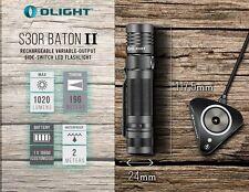 Olight S30R II Baton 1020Lm Rechargeable LED Flashlight 3600mAh 18650 Latest Ver